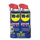WD-40 Multi-Use Product with SMART STRAWSPRAYS 2 WAYS 14.4 OZ [2-Pack]