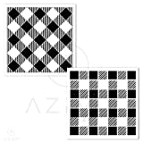 Buffalo Plaid Stencil and Diagonal Buffalo Plaid Vinyl (2PCS) AZDIY Reusable Stencils for Painting on Wood Large Farmhouse Stencils for Holiday Decorating Chalk Couture for Home Décor & DIY Projects (Tamaño: 2 PCS Diagonal Buffalo Plaid Vinyl)