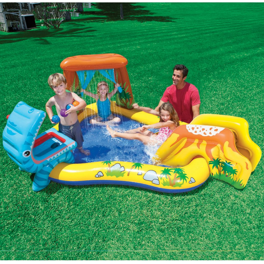 Kids Swimming Pool Inflatable Slide Outdoor Indoor Play Water Games Boys Girls Ebay