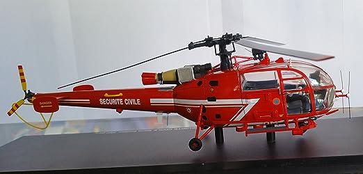 Maquette Hélicoptère ALOUETTE 3 SA316 Sécurité civile Sapeurs-Pompiers 1/43 Edition Limitée