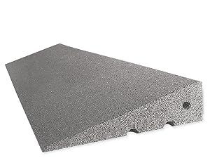 ROFLEX BordsteinkantenRampe 100 mm aus Gummifasern (grau)  AutoKundenbewertung und Beschreibung