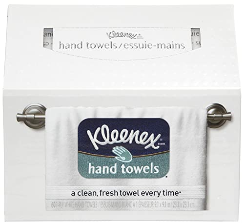 Kleenex Hand Towels, White, 1-Ply, 60 ct. (036000112719)