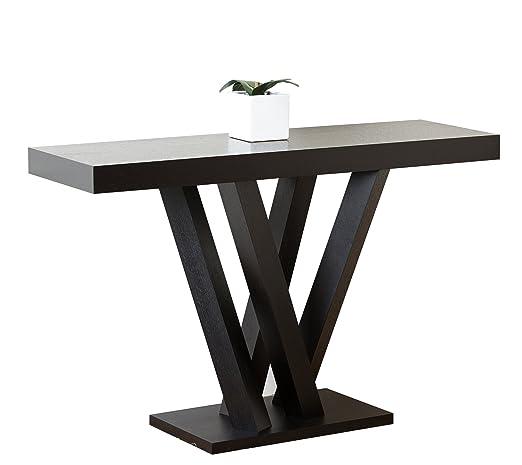Abbyson Living Kinlin Wood Sofa Table, Espresso