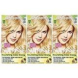 Garnier Nutrisse Nourishing Hair Color Creme, 93 Light Golden Blonde (Honey Butter), 3 Count  (Packaging May Vary) (Color: 93 Light Golden Blonde (Honey Butter), Tamaño: 3 Count)
