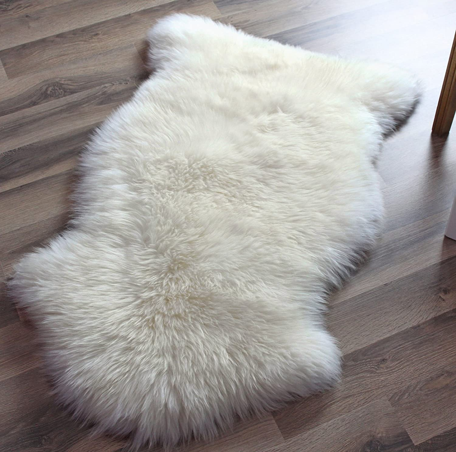 Genuine Real Australian Single One Pelt Sheepskin Ivory