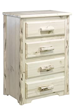 Montana Woodworks Collection 4-Drawer Chest of Drawers, Clear Lacquer Finish