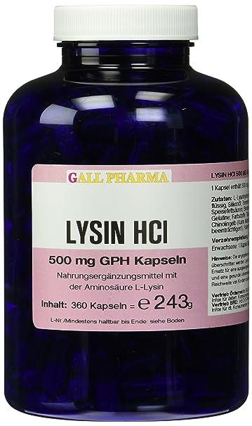Gall Pharma Lysin HCl 500 mg GPH Kapseln 360 Stuck