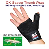 TB-OS-36,3D Breathable Patented Fabric Reversible Thumb & Palm Stabilizer, Brace Splint, for Arthritis, Pain,Sprains,Strains, Trigger Thumb Immobilizer, BlackBerry Thumb, Mommy Thumb (Color: Black, Tamaño: one size fit most)