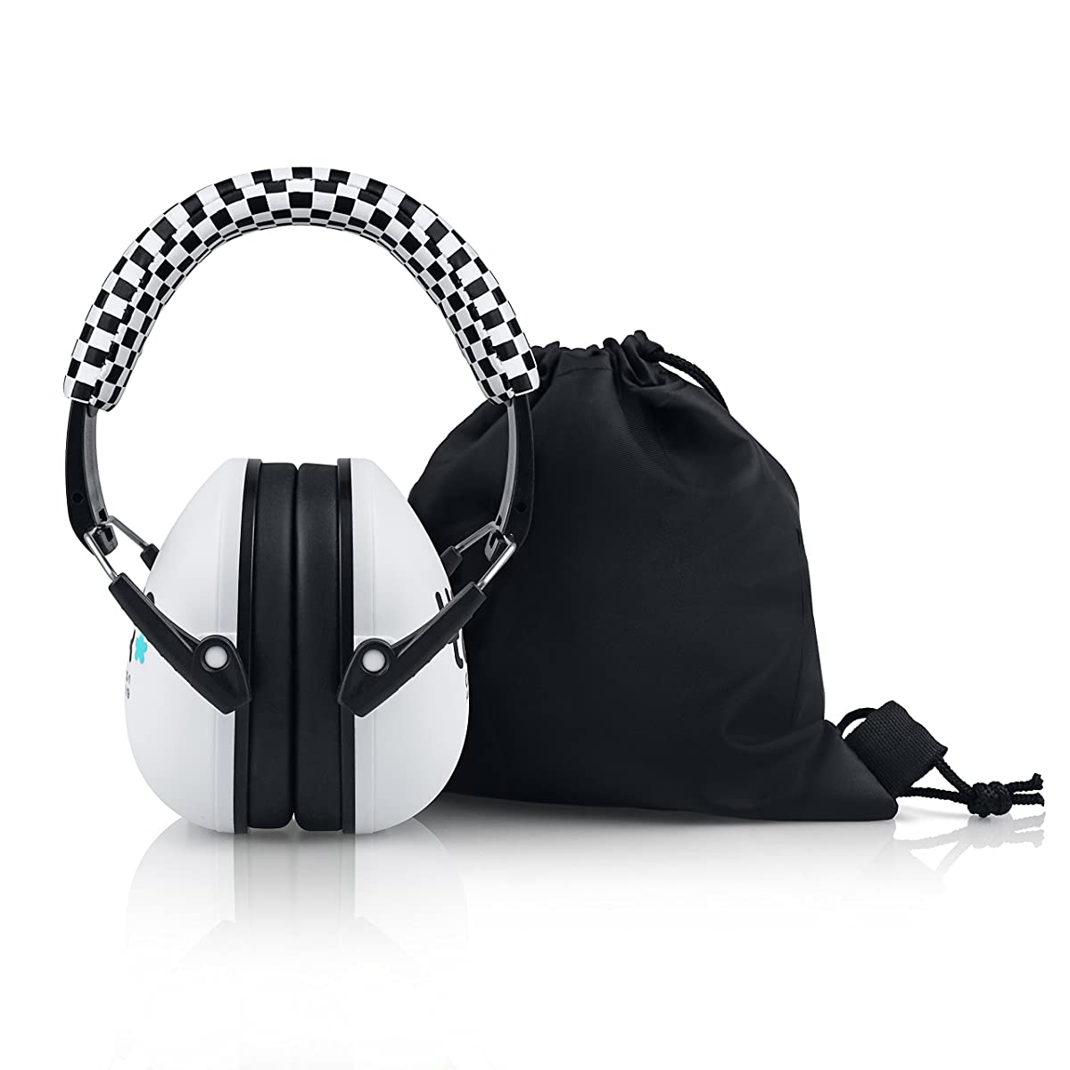 HearTek Kids Earmuffs Hearing Protection with Travel Bag- Junior Ear Defenders For Children, Padded Baby Ear Protection, Infants, Small Adults, Women - Adjustable Protector Noise Reduction Ear Muffs