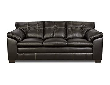 Simmons Upholstery 6769-03 Premier Chocolate Bonded Leather Sofa