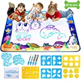 Adsoner Water Magic Mat, Aqua Drawing Magic Mat, Water Painting Doodle Mat with 4 Magic Pens Developmental Educational Toys for Toddlers Kids (40 X 32 Inches) (Tamaño: 40 X 32 Inches)
