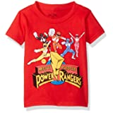 Power Rangers Little Boys' Toddler Short Sleeve T-Shirt, Red, 4T (Color: Red, Tamaño: 4T)