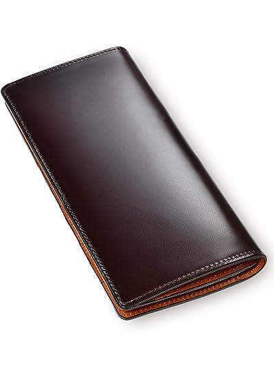 B06XDNJX4QTAVARAT 日本製 長財布 【 水染め コードバン 本革 かぶせ式 小銭入れ付き】