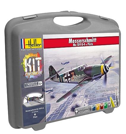 Heller - 60229 - Maquette D'aviation - Messerschmitt Me109 K-4 & Piste - Petite Mallette - 53 Pièces
