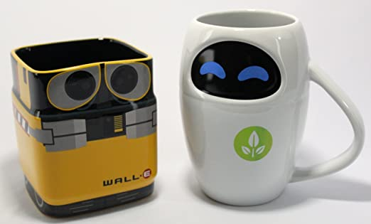 Amazon.com | Disney Pixar WALL-E & EVE Mug Gift Set: Disney S Eve Mug: Coffee Cups & Mugs