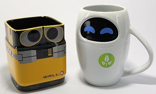 Amazon.com | Disney Pixar WALL-E & EVE Mug Gift Set: Disney S Eve Mug: Coffee Cups & Mugs