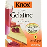 Knox Gelatine Unflavored, 4 Count (Net Wt. 1 Ounce) (Tamaño: 4 Count)