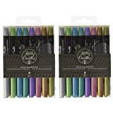 Kelly Creates 304481 718813435550 Metallic Jewel Brush Pens 8/Pkg (?wo ?ack) (Tamaño: ?wo ?ack)