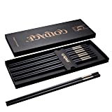 Foster (Goldage) 5-Pairs Fiberglass Dishwasher-safe Chopsticks (Blossom of Richness - Gold & Silver)