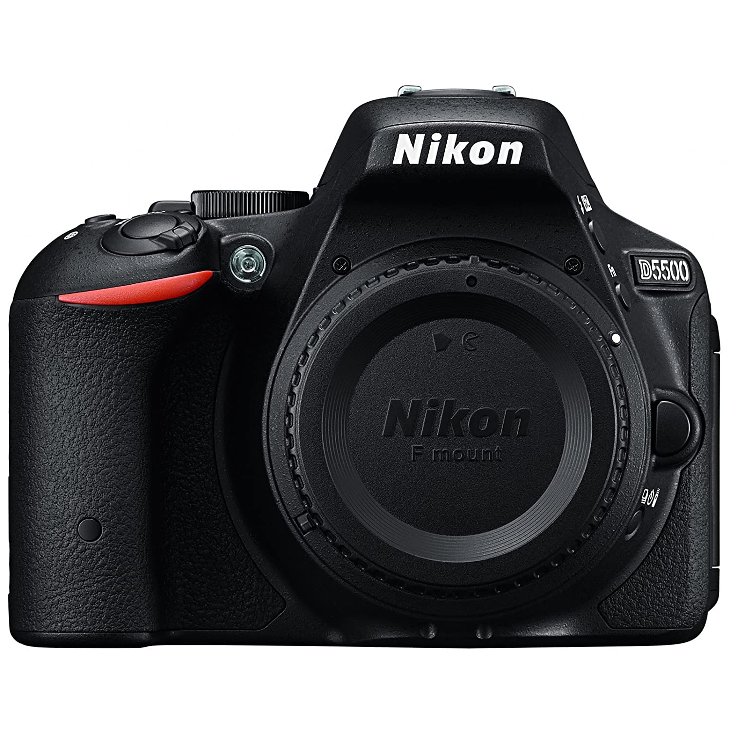 Nikon D5500 Wi-Fi Digital SLR Camera Body (Black) - Certified Refurbished