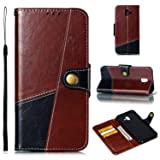 Miagon Wallet Case for Galaxy J6 Plus 2018,Retro Excellent Splice Business Style Magnetic Closure Bookstyle Pu Leather Flip Case Cover with Stand Function for Samsung Galaxy J6 Plus 2018(Dark Red) (Color: Dark Red, Tamaño: Samsung Galaxy J6 Plus 2018)