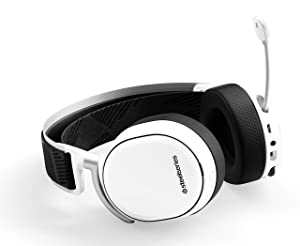 SteelSeries Arctis Pro Wireless Gaming Headset - Lossless High Fidelity Wireless + Bluetooth for PS4 and PC - White (Color: White)