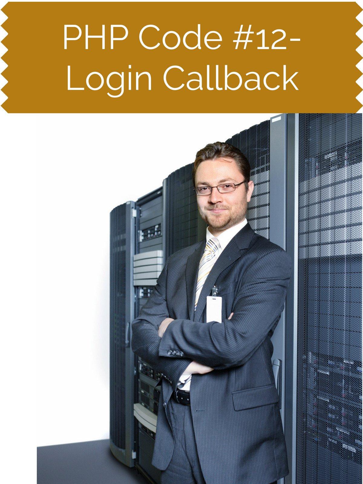 PHP Code #12 Login Callback