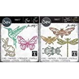 Tim Holtz Sizzix Geometric Bundle - Geo Springtime and Geo Insects Thinlit Sets - 2 Items