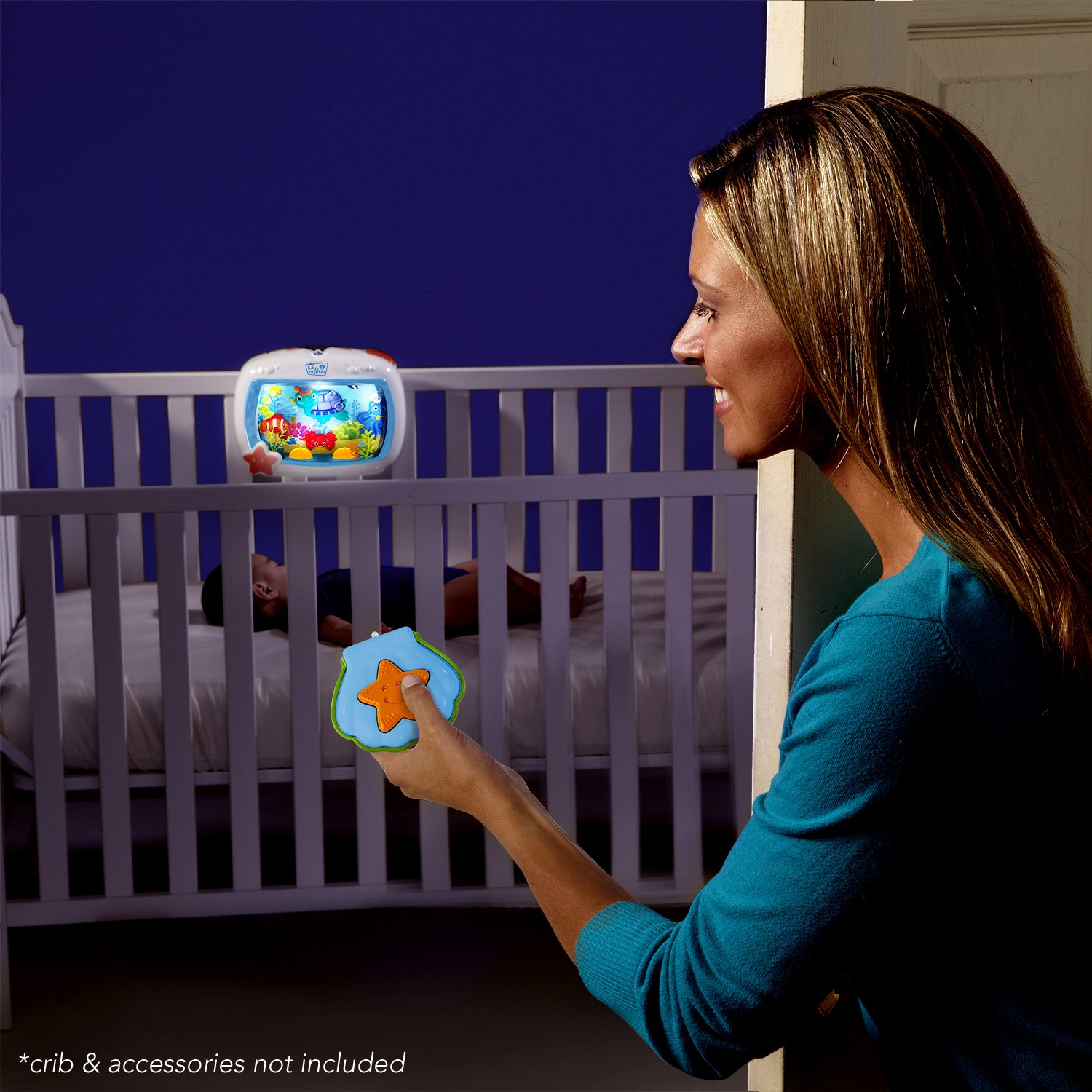 Crib activity toys for babies - Baby Einstein Sea Dreams Night Soother Crib Bed Light Sound Infant Sleep Toy