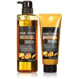 Hair Food Moisture Shampoo & Moisture Hair Mask Set Infused With Honey Apricot Fragrance, Free of Parabens and Mineral Oil