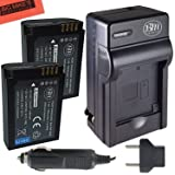 BM Premium 2-Pack of BP-1900 Battery and Battery Charger for Samsung NX1 Digital Camera