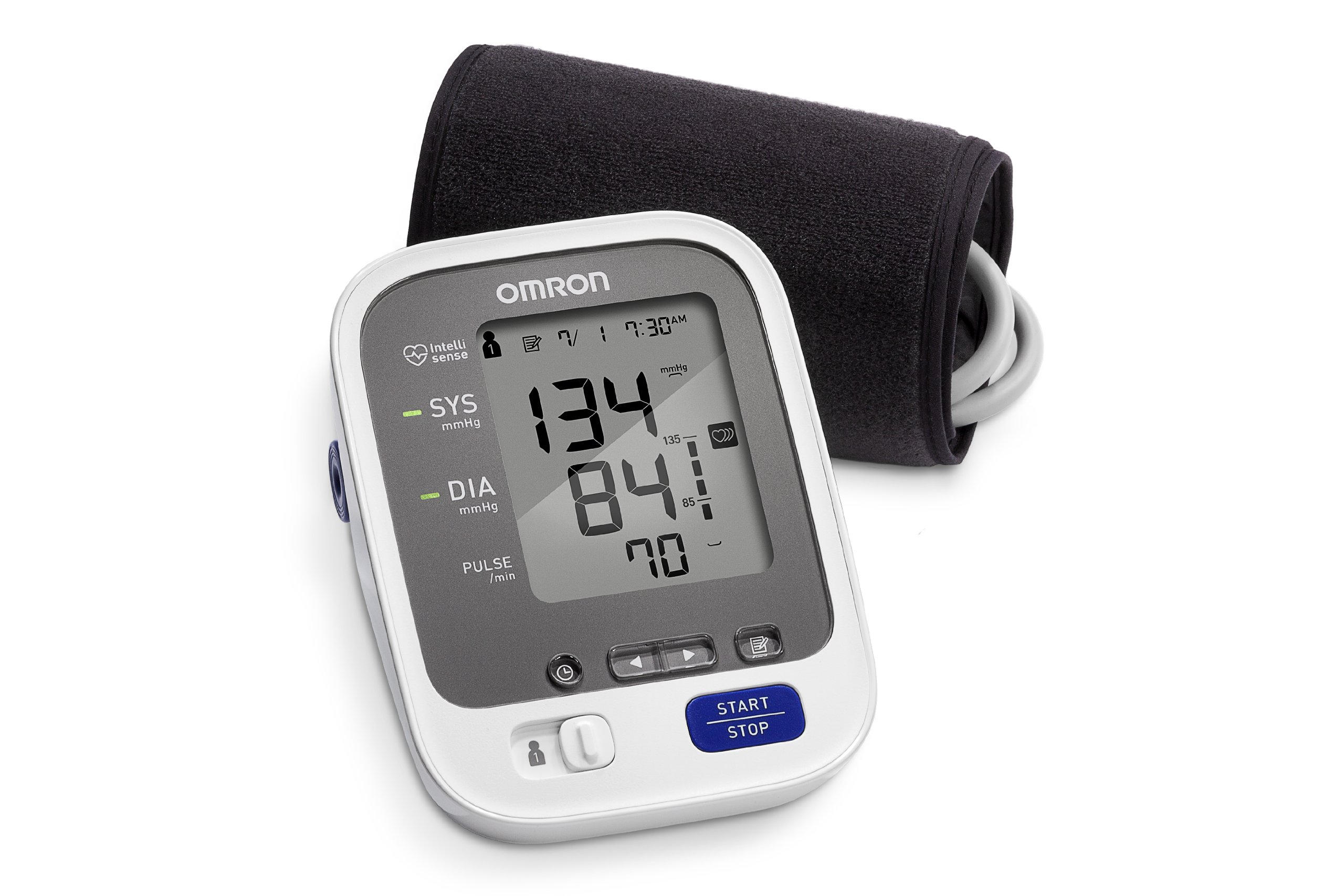 The Omron Blood Pressure Monitor 10 Series BPN blood pressure monitor is hands down the most reliable home device on the market and the best home blood pressure monitor; Omron is a world-class manufacturer of blood pressure machines and the Omron 10 Series Blood Pressure Monitor BPN is their most advanced model available, with a built-in.