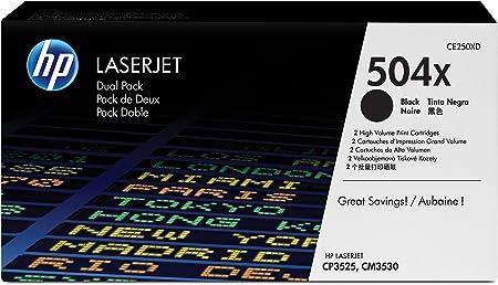 HP - CE250XD - Pack de 2 Cartouches de Toner - Noir - 10500 pages