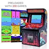 Funderdome Battery Powered Mini Arcade Game, Arcade Machine, Retro Tiny Video Game Arcade Cabinet, Portable Electronic Handheld Gaming Console for Kids with 200 Classic Video Games