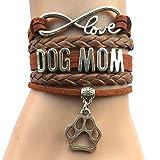 DOLON Infinity Love Dog Mom Bracelet-Coffee (Color: Coffee)