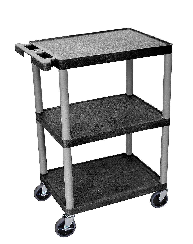 luxor he34 n utility cart 3 shelves structural foam. Black Bedroom Furniture Sets. Home Design Ideas