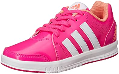adidas Boy's Lk Trainer 7 K Pink, Bright Yellow and Yellow Sneakers 1 UK