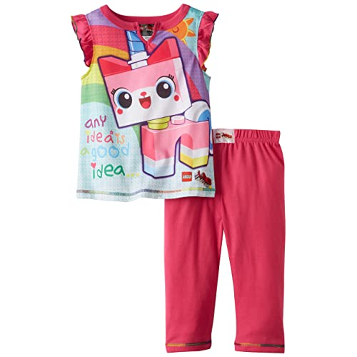 Lego Movie Girls 4-12 Unikitty Pajama Set