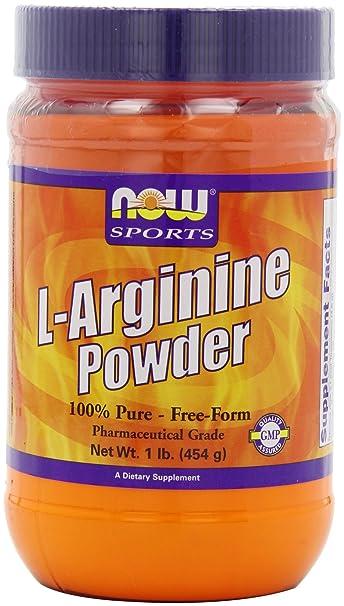 Now Foods, L-Arginin-Pulver, 1 lb (454 g)