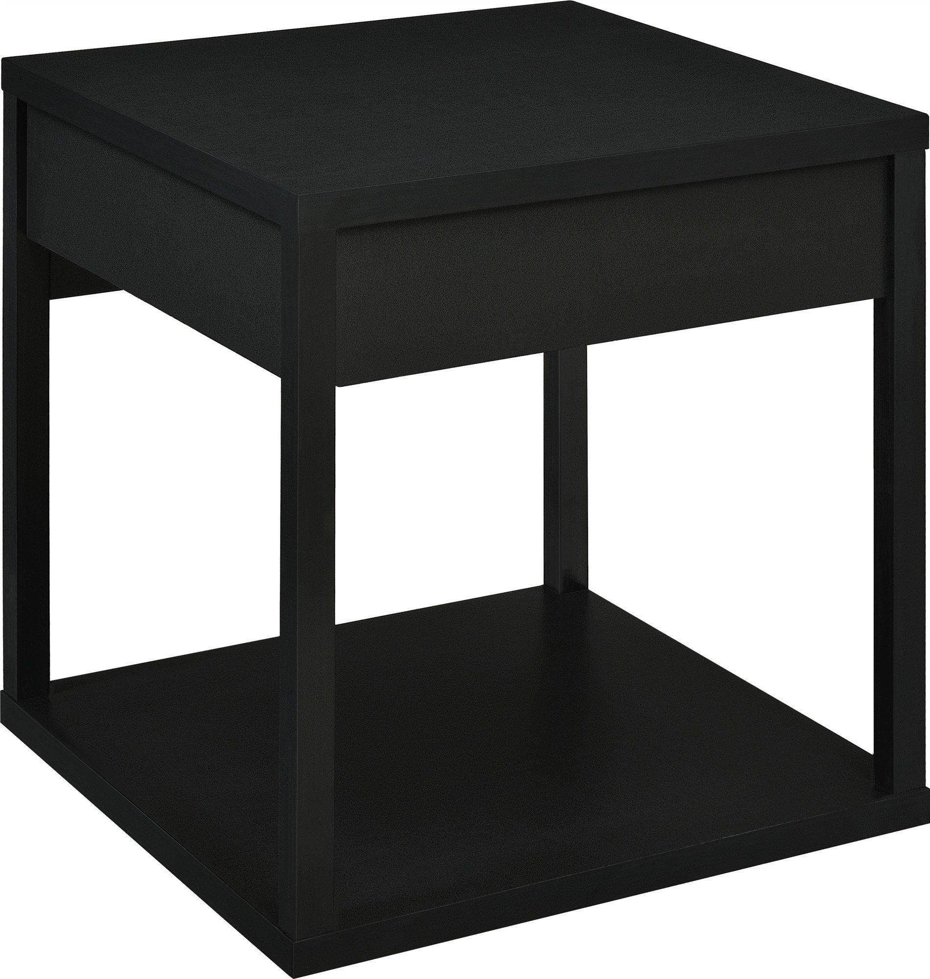 Altra End Table With Drawer Black Furniturendecor Com