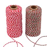 Sunmns Christmas Twine Cotton String Rope Cord for Gift Wrapping, Arts Crafts, 656 Feet (Multicolor C) (Color: Multicolor C)