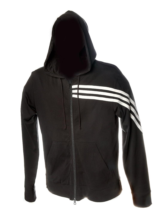 Y-3 Yohji Yamamoto Classic Striped Zip Up Hoodie in Black/White цены онлайн