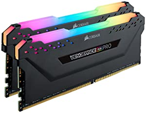 Corsair Vengeance RGB Pro 16GB (2x8GB) DDR4 4266 (PC4-34100) C19 Desktop Memory Black (CMW16GX4M2K4266C19) (Color: RGB PRO - Black, Tamaño: 16GB (2x8GB))