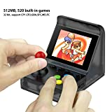 BAORUITENG Handheld Game Console, Retro Arcade Mini Game Console for Game Player with 3 Inch 512 Games 32 Bit Portable Game Console,Birthday Gift for Children (t-Black) (Color: T-black)