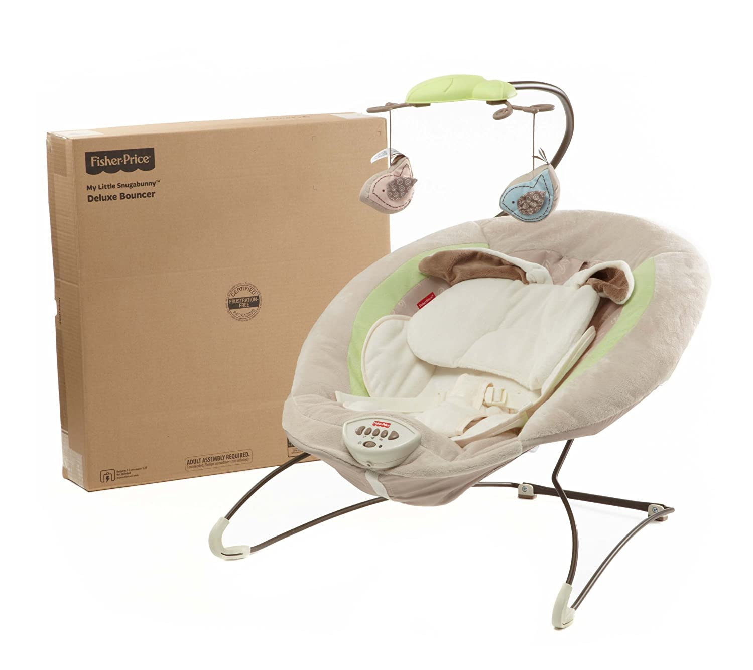 NEW Fisher Price My Little Snugabunny Bouncer Baby Seat
