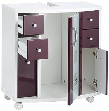 Posseik 5418 89 meuble meuble sous lavabo nizza for Element sous lavabo