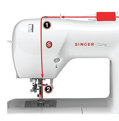SINGER 8763 Curvy Computerized Free-Arm Sewing Machine trview