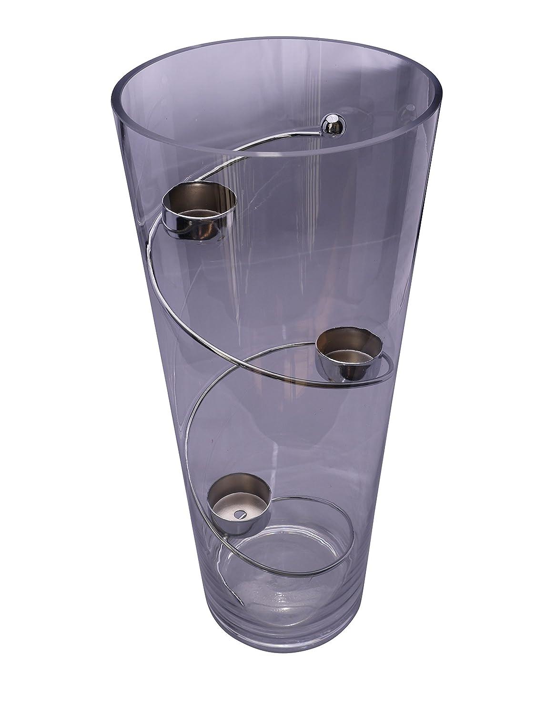 Glas-Vase Lichtspirale