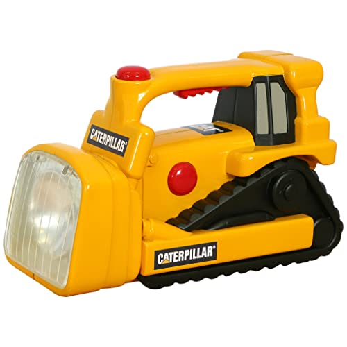 Toy State Caterpillar Construction Flash Light And Night Light: Bull Dozer