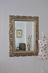 NEW VERY LARGE SHABBY CHIC BEVEL GLASS OVERMANTLE WALL MIRROR 49  x 37    VARIOUS COLOURS AVAILABLE (Silver)       reviews